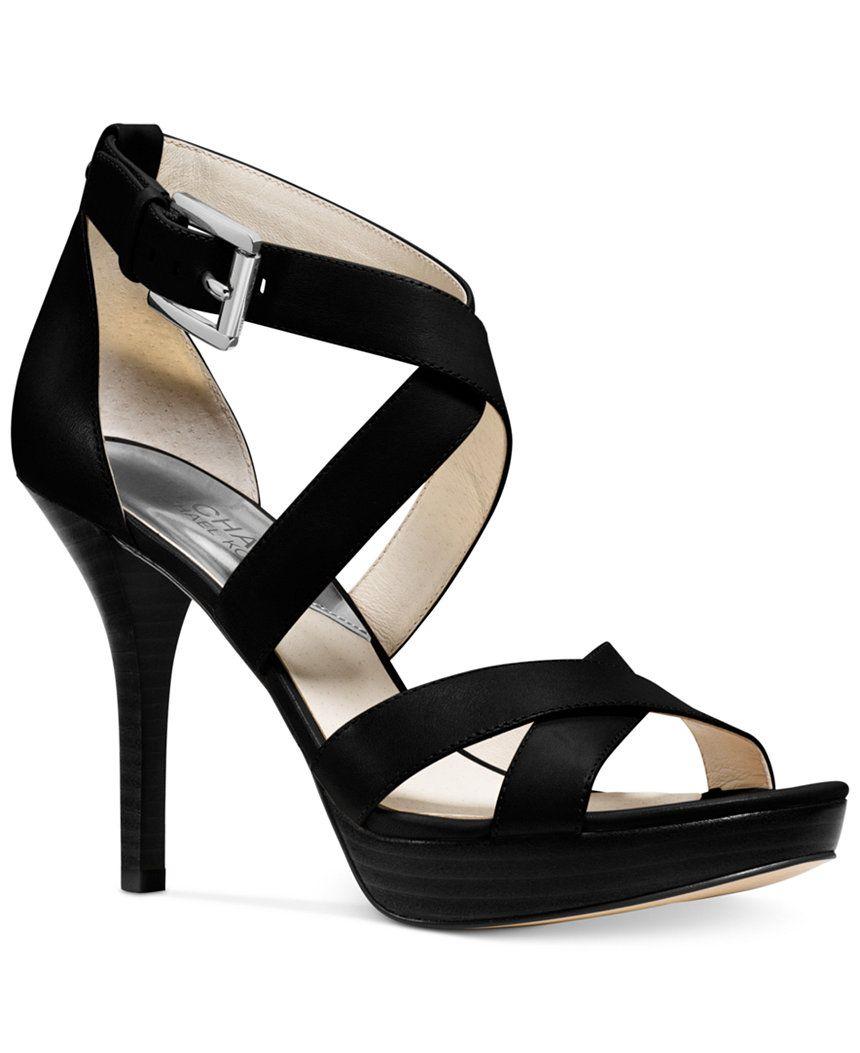 MICHAEL Michael Kors Evie Platform Sandals - Michael Kors Sandals - Shoes - Macy's