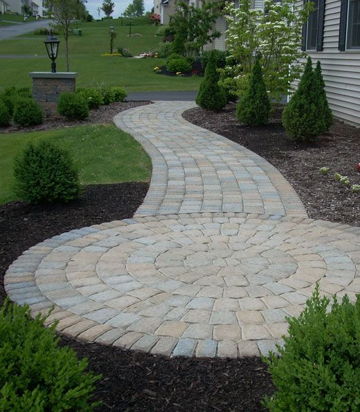 Circle Landing Patio Paver Patio Installation Outdoor