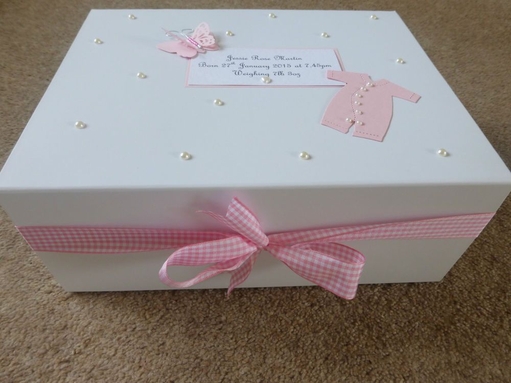 Details about personalised memory box new baby keepsake