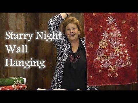 Starry Night Wall Hanging Quilt Panel Project Youtube