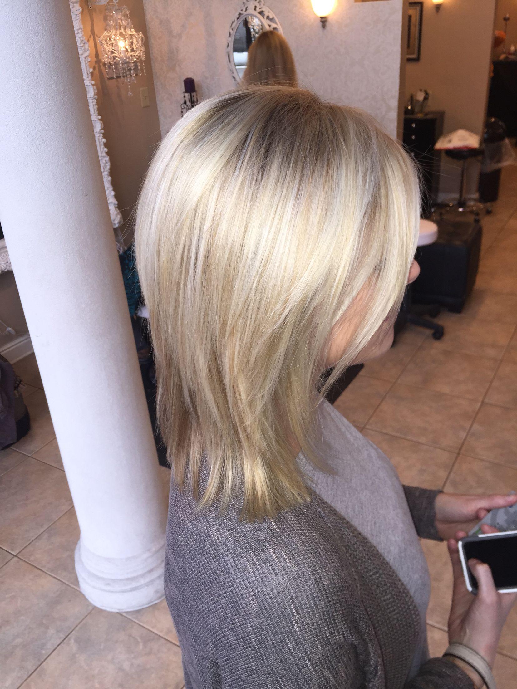 Bright Natural Blonde Highlights Short Hair Layers Natural Blonde