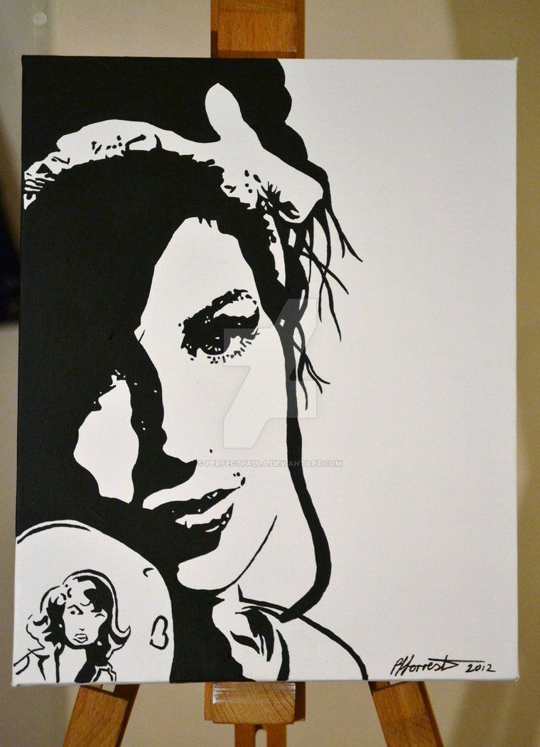 Amy Winehouse Hand Painted Canvas Media Canvas Acrylic C Pjforrester 2012 Amy Winehouse Silhouette Art Art