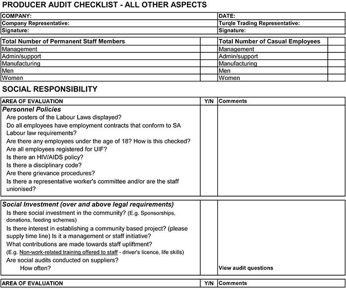 supplier audit checklist template vendor is on make the most of rfq