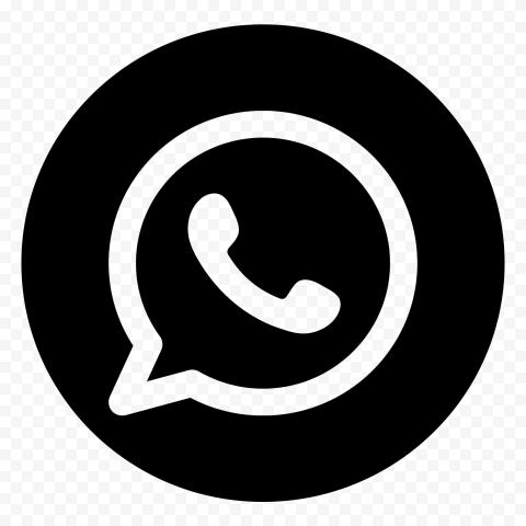 Hd Round Black Outline Whatsapp Wa Whats App Logo Icon Png In 2021 App Logo Logo Icons Outline