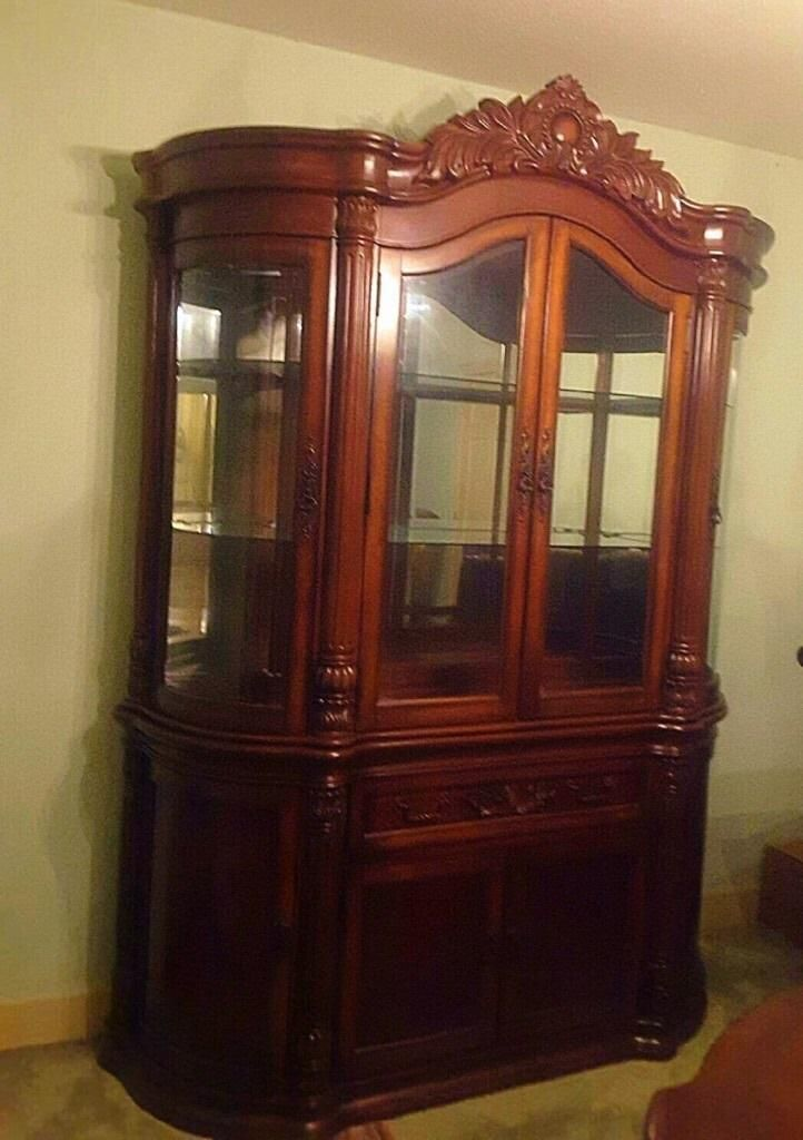 ... PRICE IS NEGOTIABLE*** This China Cabinet Is Only 5 Years Old And Never  Been Used. I Bought It Brand New From A Fingers Furniture Auction In Houston,  TX ...