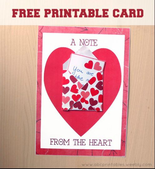 A Note From The Heart Greeting Card