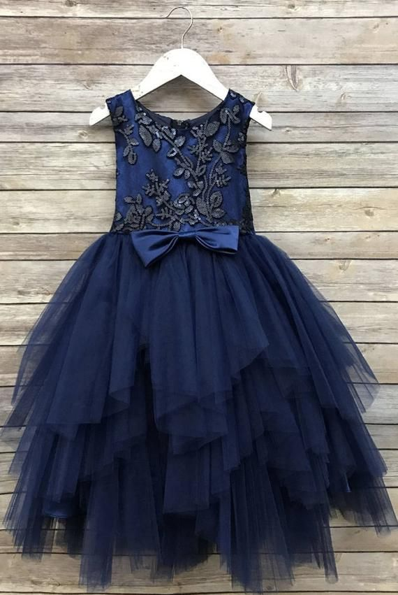 73deffff0 Sequin Top Flower Girl Glam Dress Sizes 2-12 Navy, Blush, Champagne, Red, Gold  Sequin Top Dress Tull