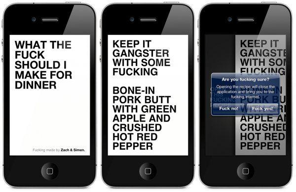 What The Fuck Shoul I Make For Dinner (vulgar recipes for iPhone)
