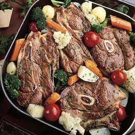 Photo of Vegetable Lamb Chop Skillet Dinner-Vegetable Lamb Chop Skill…