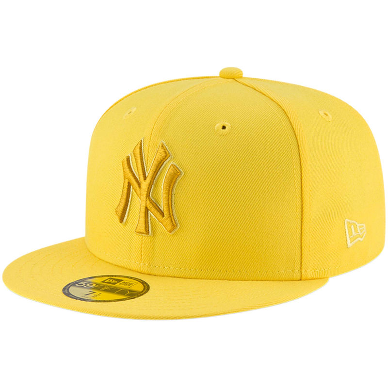 New York Yankees New Era League Pop 59fifty Fitted Hat Yellow Yankees Fitted Hat Hats For Men New Era Cap