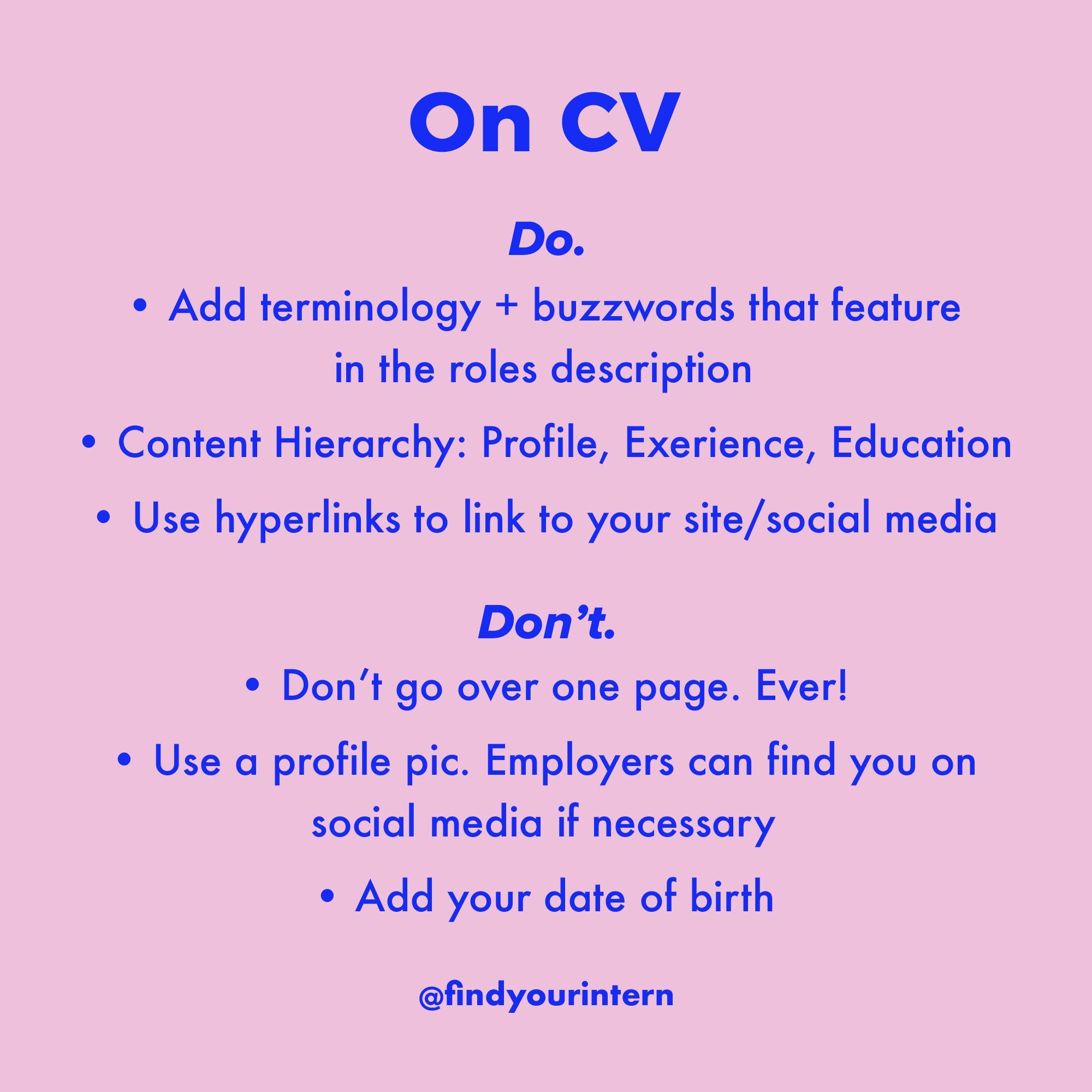 How To Write A CV. How To Write Your Resume. Tips And
