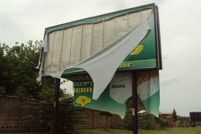 Task Force Demolishes Political Billboards in Sokoto   The Sokoto State Task Force on Illegal Structures, has embarked on the removal of bill boards illegally erected by politicians in the state.  - See more at: http://firstafricanews.ng/index.php?dbs=openlist&s=11215#sthash.69XwBq2i.dpuf