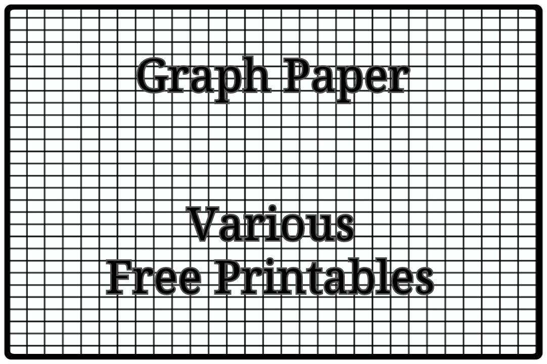 An assortment of free PDF printables for different types ...Printable Graph Paper With Axis