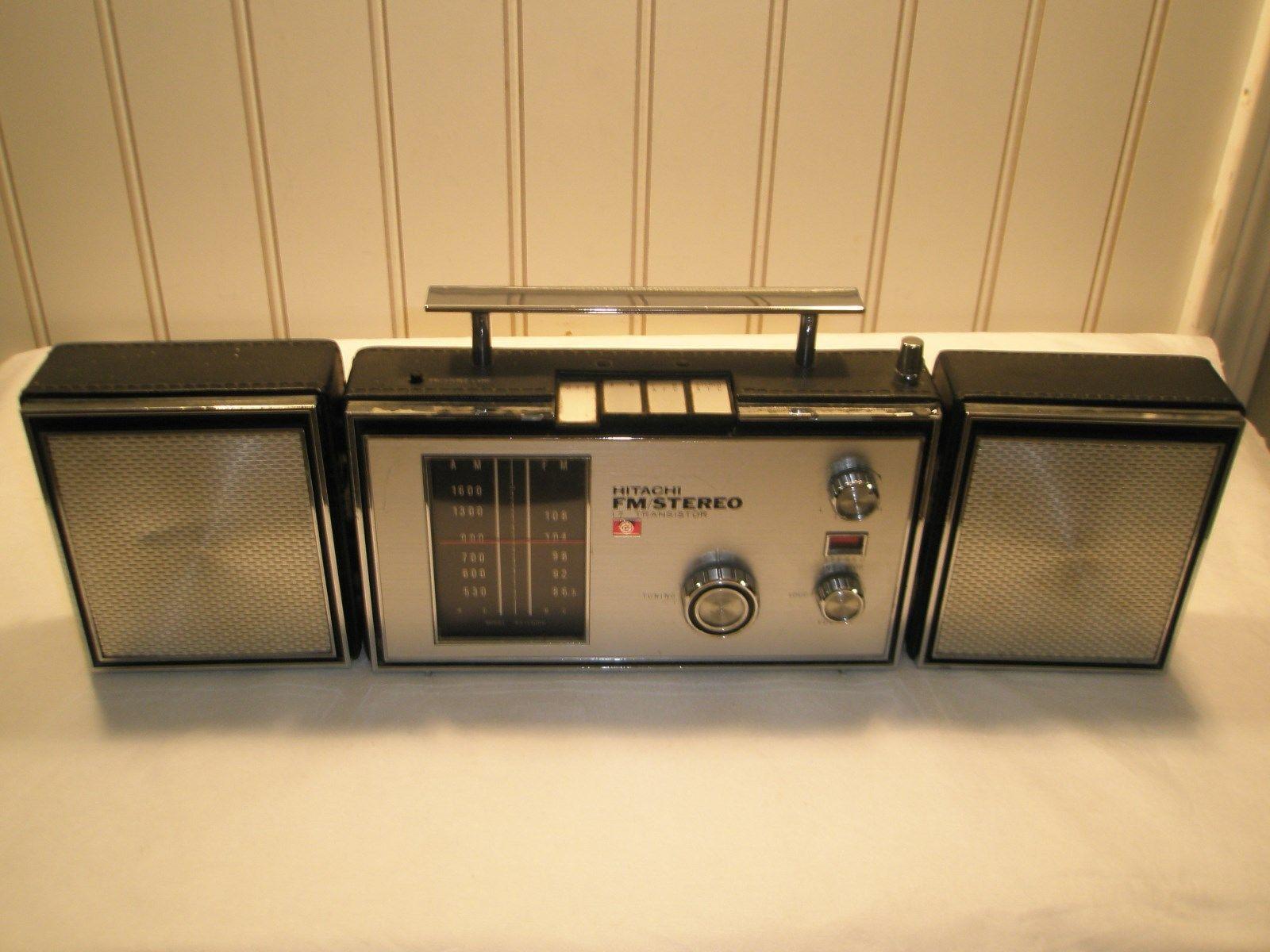 Vintage Hitachi Fm Stereo 17 Transistor Am Fm Fm Afc Radio