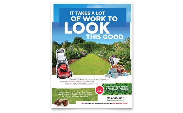 landscaping flyer template design