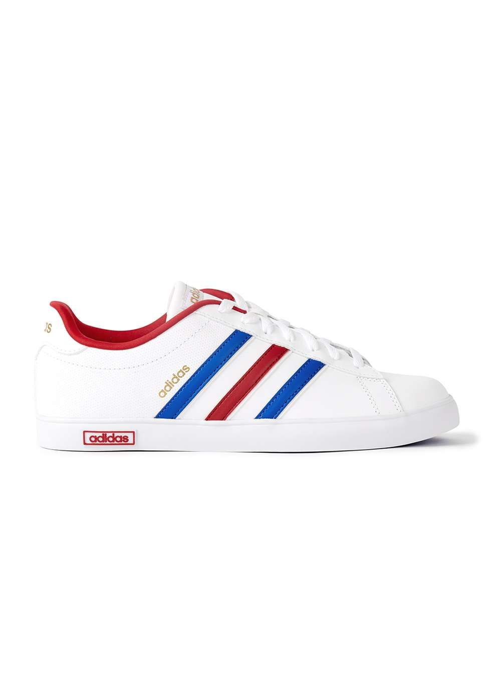 new style edf51 3d2bc adidas Neo Derby Vulc White Sneakers