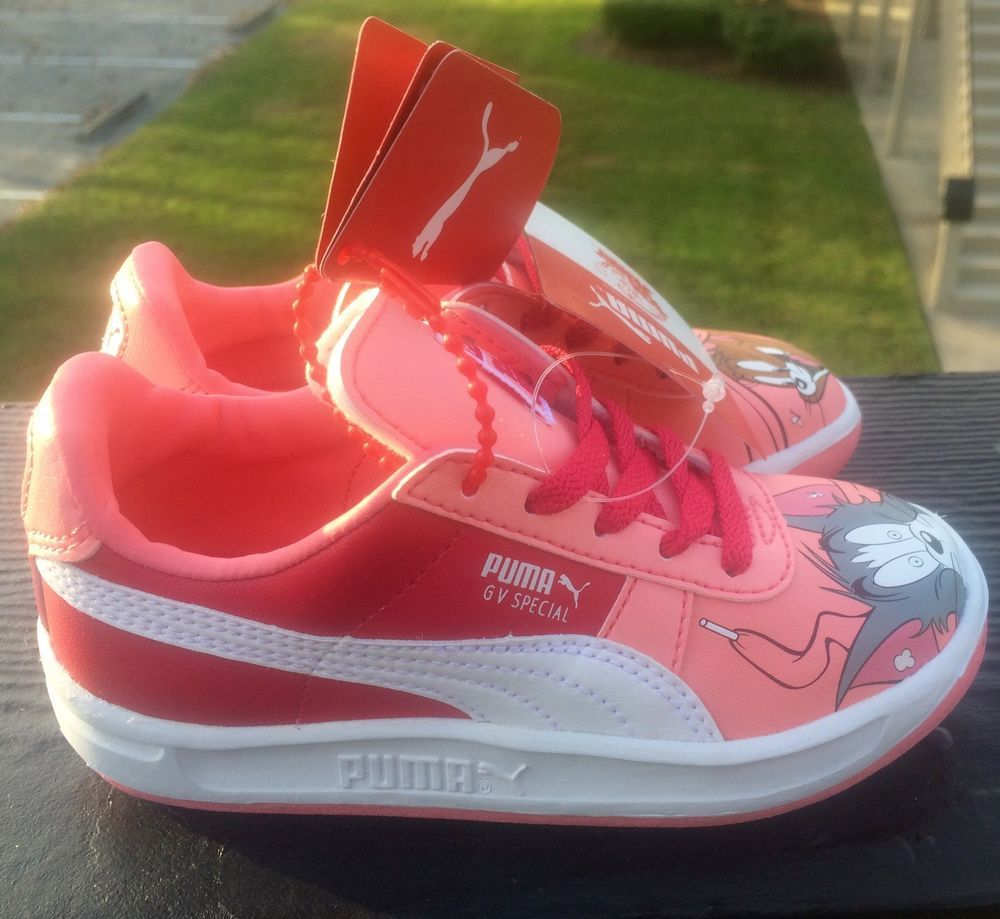 kids shoes Puma Gv Special Tom & Jerry Leather Sneakers pink