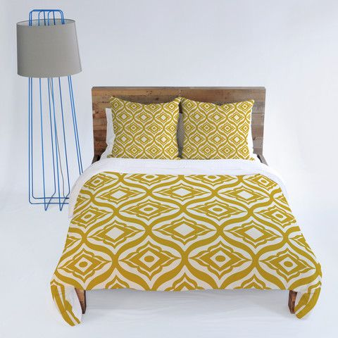 Heather Dutton Trevino Yellow Duvet Cover Bedroom Bedding Mustard Deny Covers