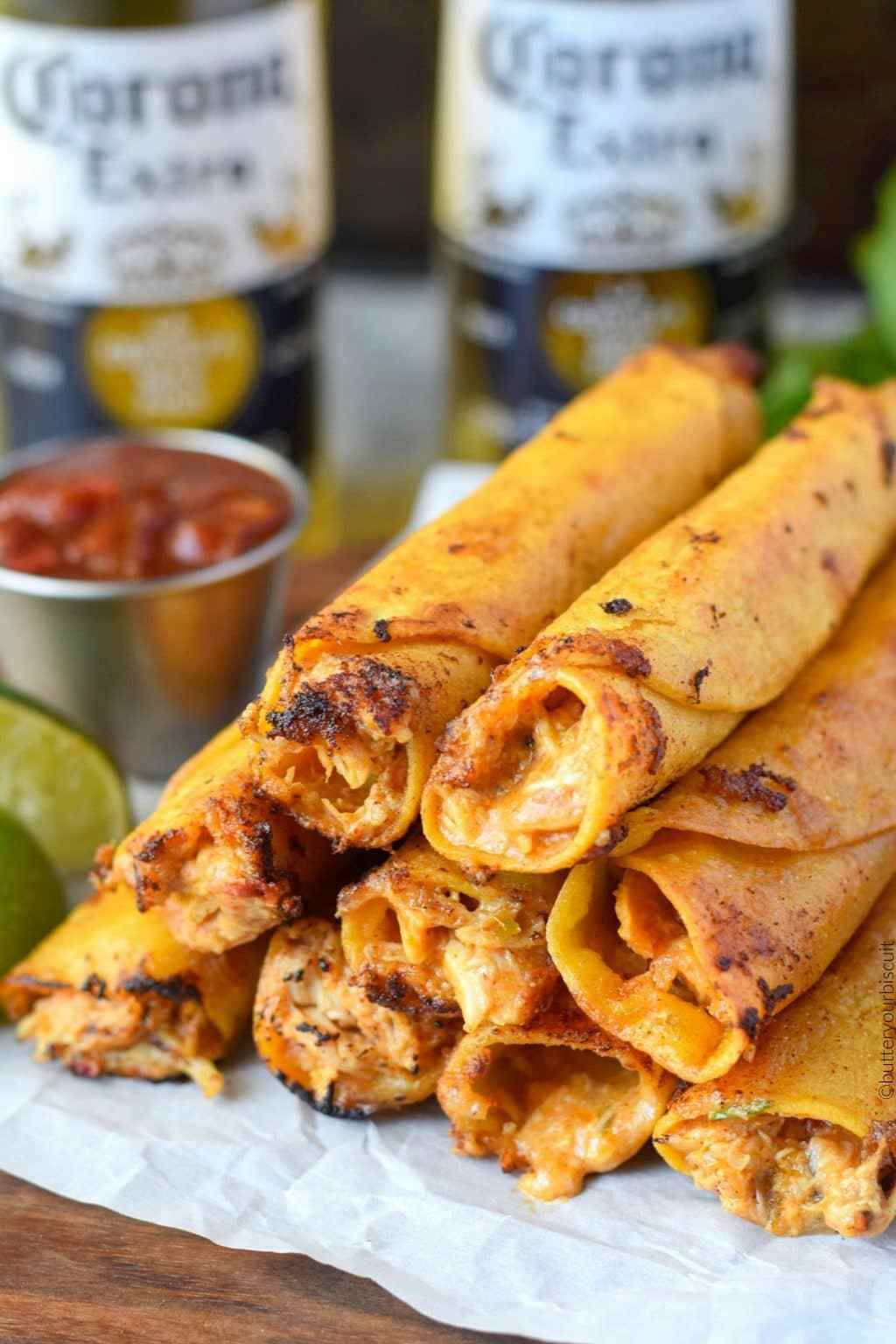 Pepper Jack Chicken Taquitos Recipe-Butter Your Biscuit