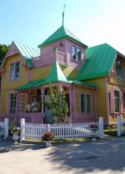pippi longstocking's house, Villa Villekulla, in Kneippby