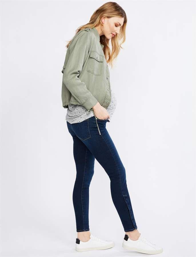 fe866135dc103 Pea Collection FRAME Secret Fit Belly Le Skinny de Jeanne Snap Away Maternity  Jeans