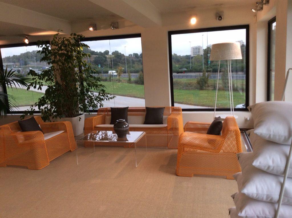 Tavolini Soggiorno ~ Tavolino da salotto moderno in plexiglass trasparente 100x59 h:40