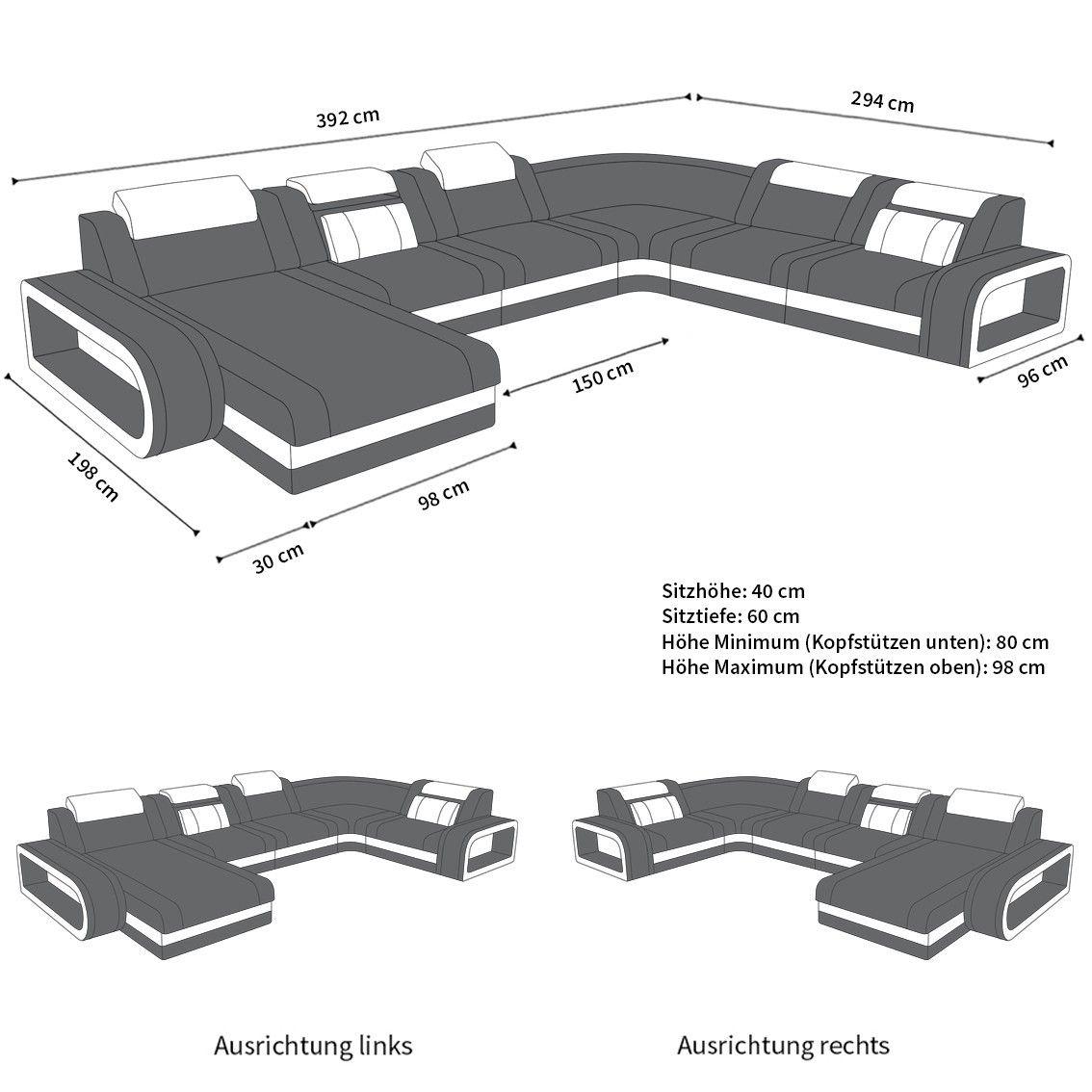 Wohnlandschaft Berlin Xxl Stoffbezug In 2020 Wohnlandschaft Landschaft Wohnen