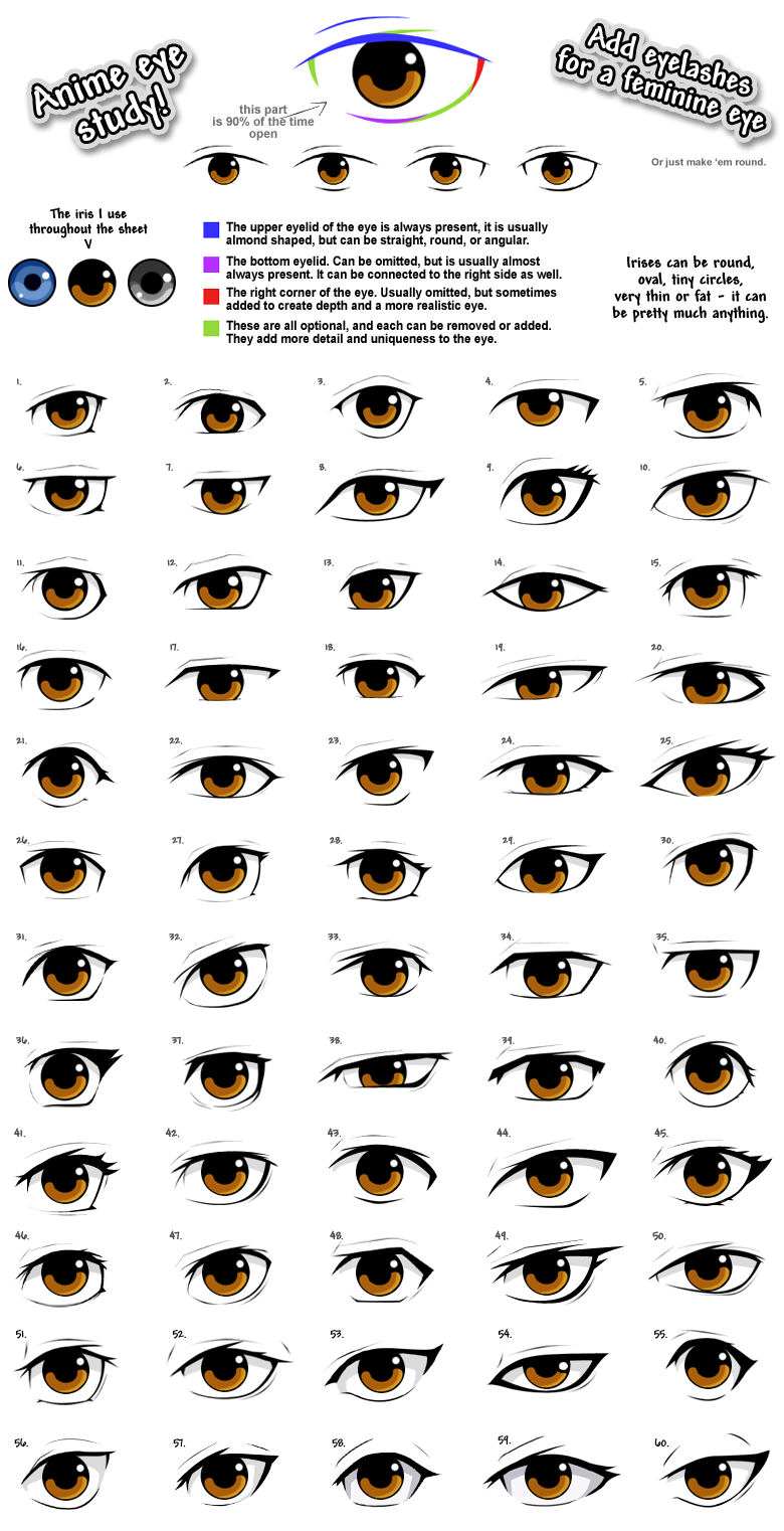 Anime Eye Styles Anime Eye Drawing Anime Eyes Manga Eyes