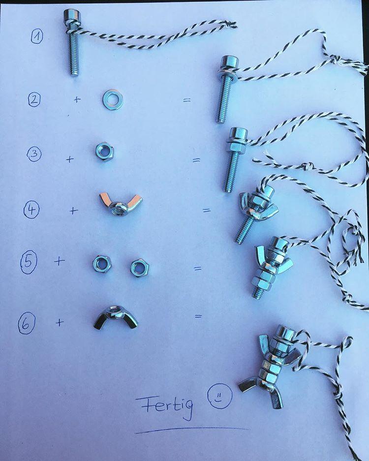 """Frau K. on Instagram: """"�Vatertagsgeschenk�ein Schlüsselanhänger aus Schrauben ���gesehen bei @frau.jungr und @grundschul_ideenwiese �#inspiration…"""""""