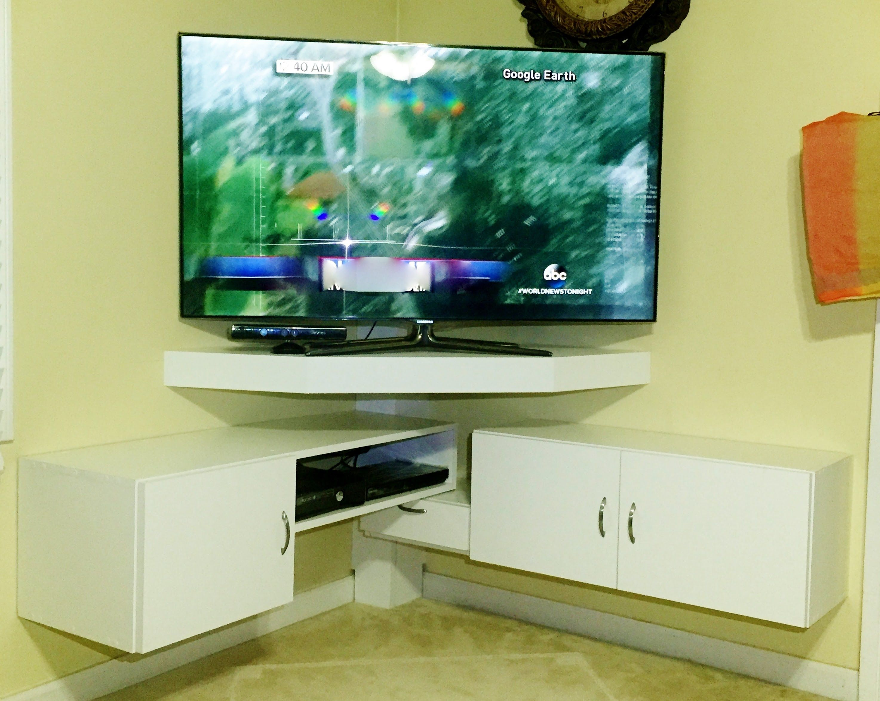 Image Result For Corner Mount Flat Screen Tv Ideas Corner Tv