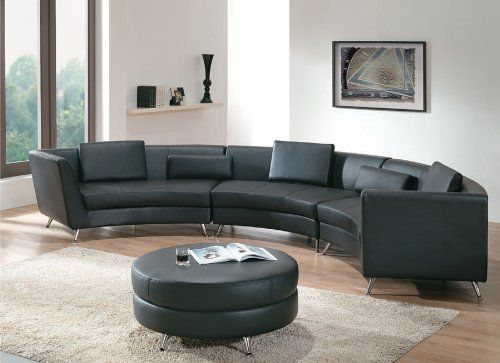 25 Contemporary Curved And Round Sectional Sofas Leather Sofa