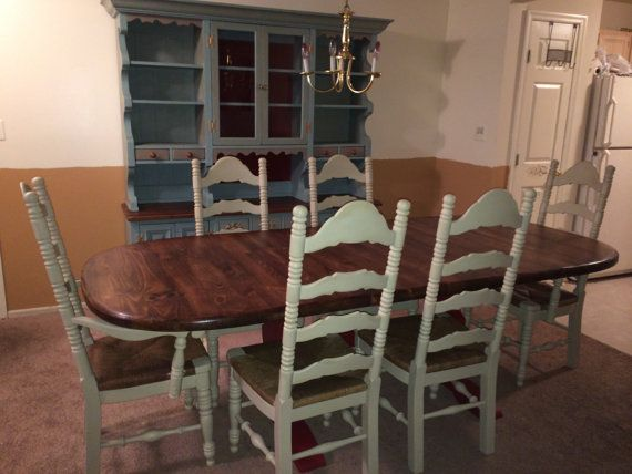 Antique French Country Ladderback Chairs Ladder Back With Rush Seats Dining  Chairs Country Grey