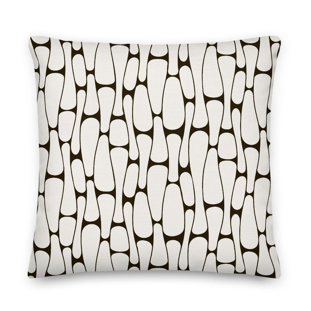 Throw Pillow Black And White Pillow Cover And Insert 2222 Etsy In 2020 Throw Pillows White Pillows White Pillow Covers