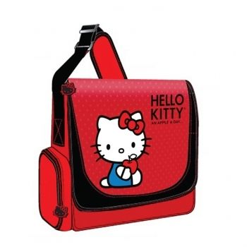 Hello Kitty KT4339RV Vertical Messenger Style Laptop Case: Hello Kitty KT4339RV Vertical Messenger Style Laptop Case  Model: KT4339RV    Condition: New  Description:   The Hello Kitty KT4339RV Vertical Messenger Style Laptop Case (Red) accommodates laptops with up to 12 inch screen size. It features exterior, zippered accessory pocket on each side. You can adjust the shoulder strap to your comfort.   * Accommodates Laptops with up to 12 Inch Screen Size  * Adjustable Shoulder Strap…