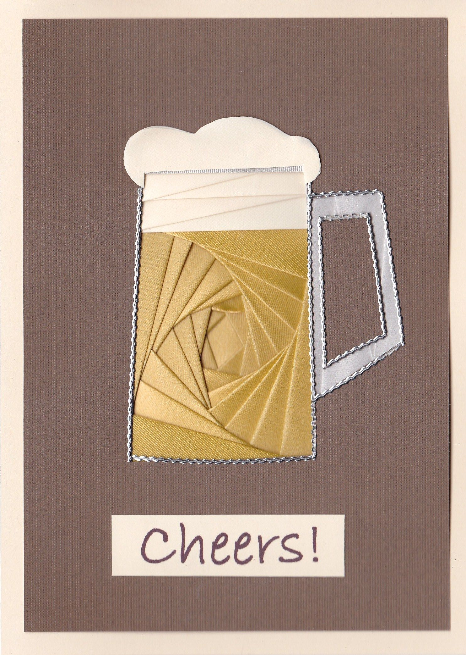 Iris Folded Beer Mug | Iris Folding / Origami | Iris ... - photo#49
