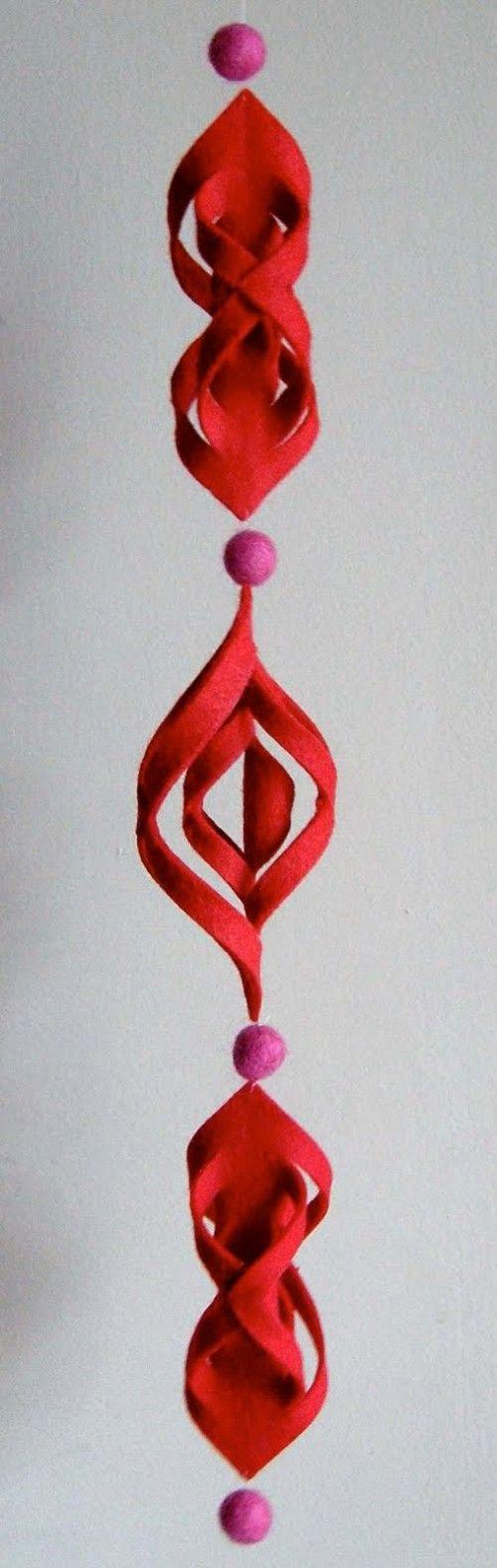 Modern DIY Felt Ornament by Betz White: Here is the link for the tutorial http://tinyurl.com/yd48rfe  #Felt #Ornament #Betx_White