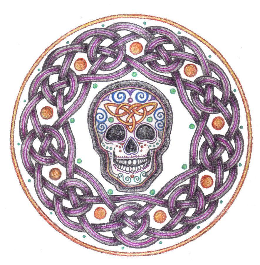 Samhain Skull Knotwork by Spiralpathdesigns on DeviantArt