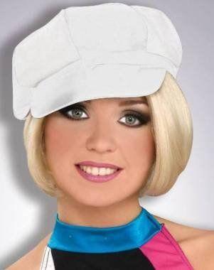 0170b7034f695 White 60s 70s Mod Womens Vinyl Cap Hat Hippie - Golf Costs