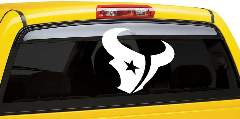 Houston Texans Inspired Car Window Decal Sport Team Vinyl Car - Car window decal stickers sports