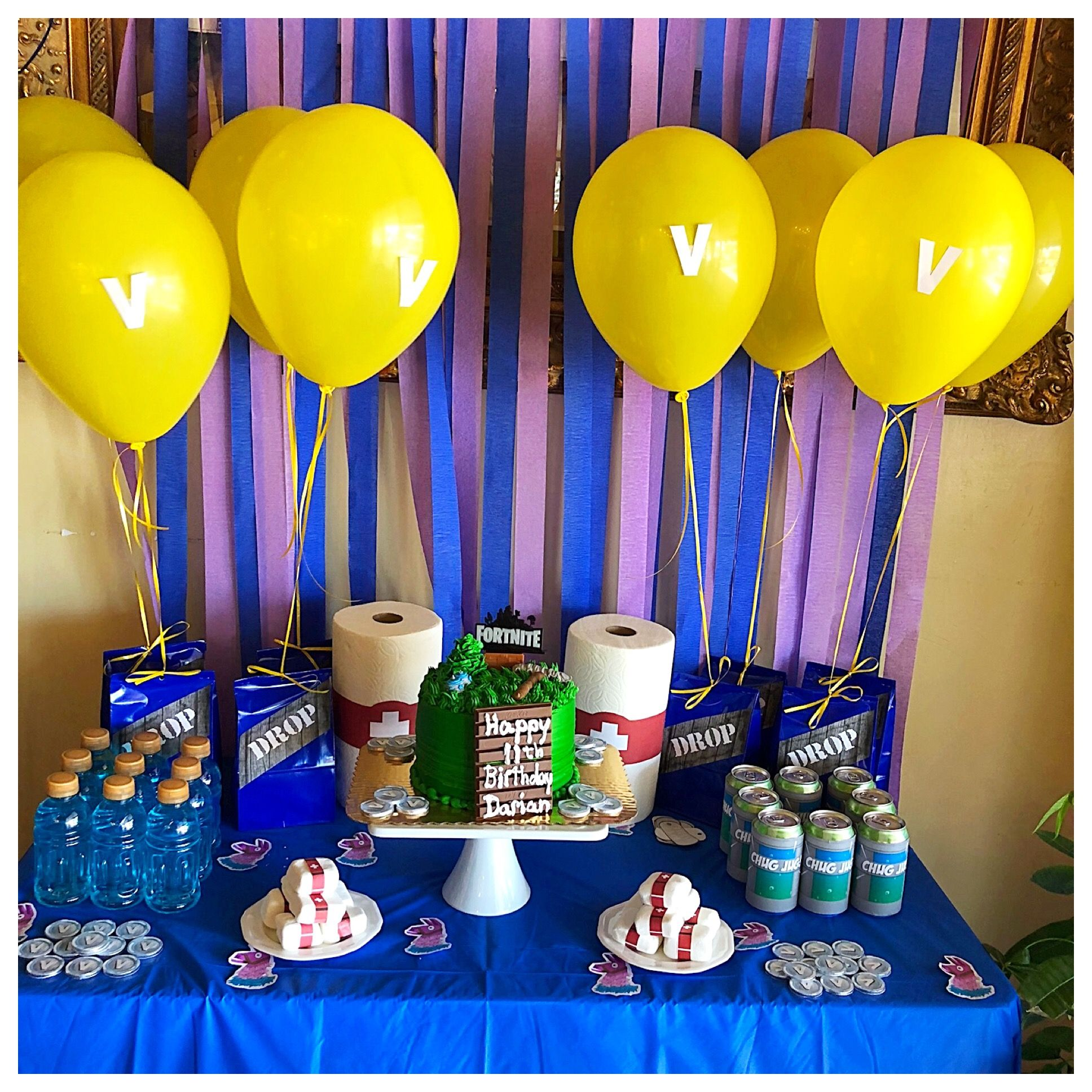 Fortnite Party Decor Birthday Party Planning Birthday Party Decorations 9th Birthday Parties