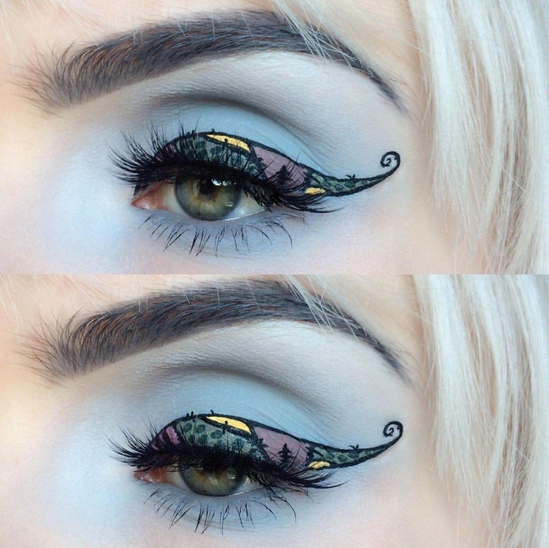 Nightmare before Xmas Sally makeup Sally makeup
