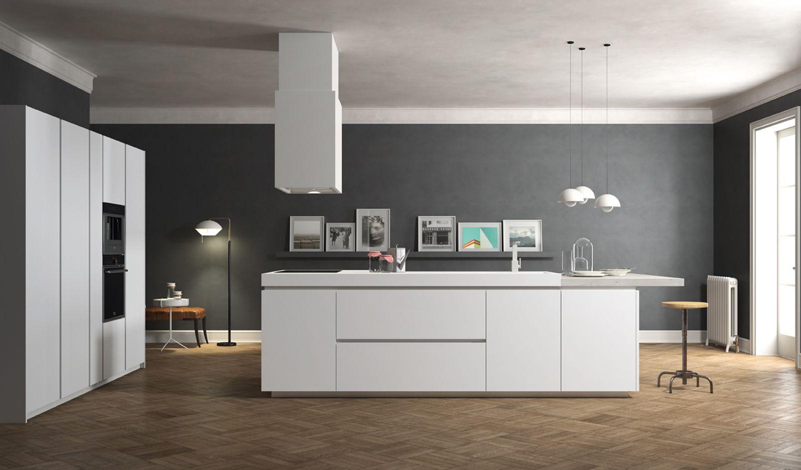 cucina bianca parquet - cerca con google | cucina | pinterest ... - Cucina Bianca Con Isola