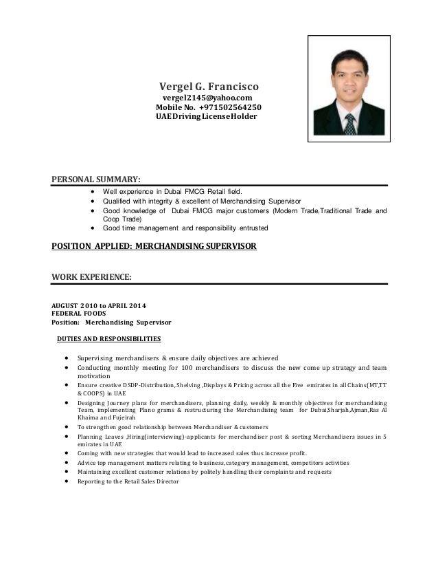 Sample Of Merchandiser Resume 2015 Resumesdesign Professional Resume Samples Job Resume Sample Resume