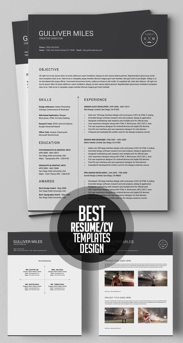 50 Best Minimal Resume Templates Design Graphic Design Junction Best Resume Template Graphic Design Resume Resume Templates