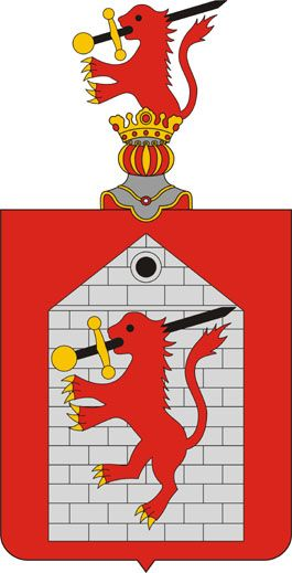 Seals and Coat-of-Arms of Tapolca (1609-1998)  found on the Lessner House in Tapolca Hungry