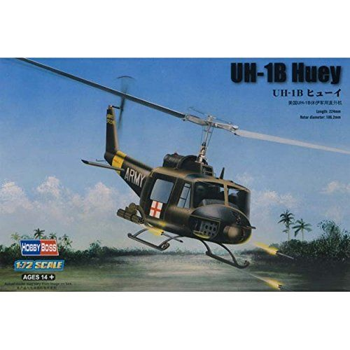 Helicopter Model Kits - Hobby Boss UH1B Huey Helicopter Model Building Kit * Click image for more details.