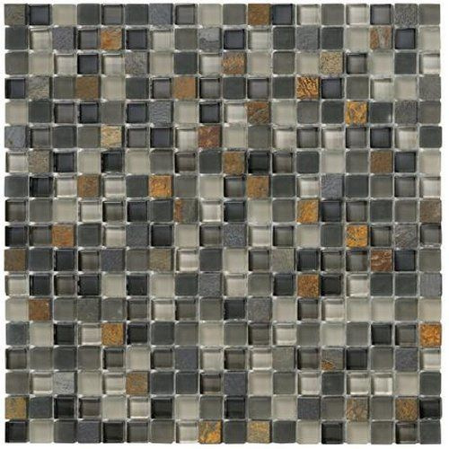 "Contemporary Crystal Stone II 5 8"" x 5 8"" Slate Mosaic Luxury - Simple Elegant Slate Mosaic Tile Review"