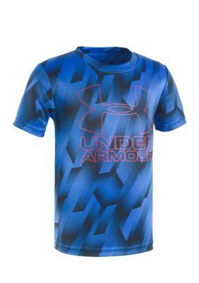 Under Armour Ultra Blue Sandstorm Big Logo Tee Boys 4-7