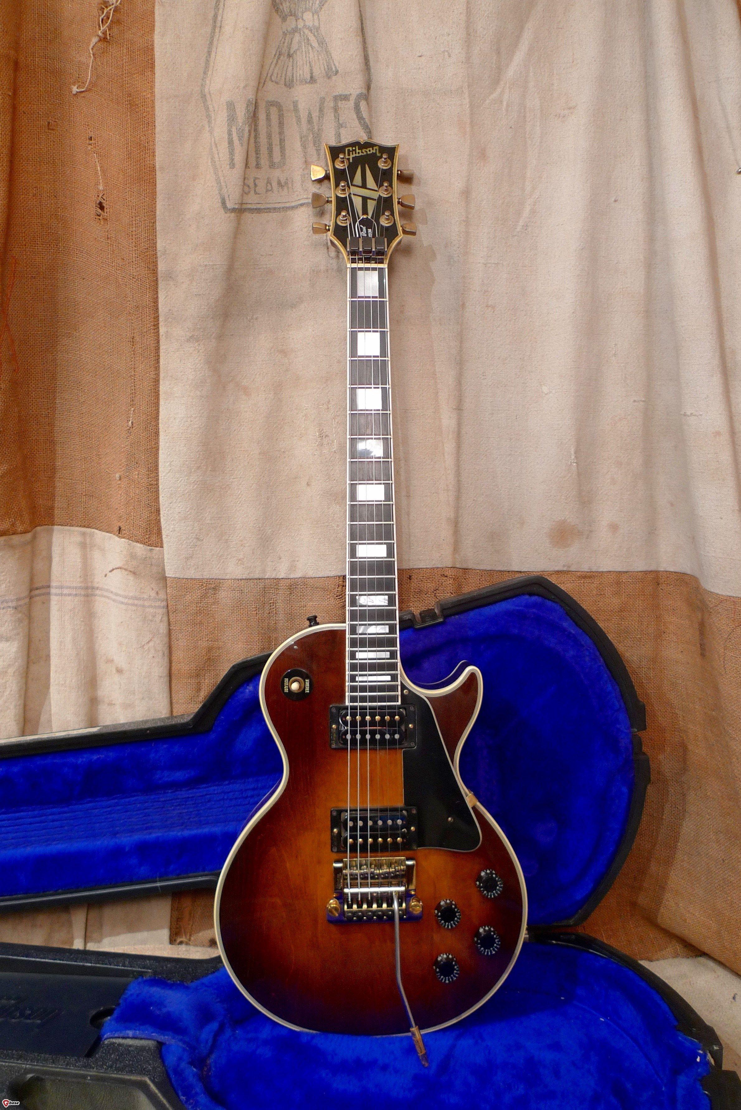 1985 Gibson Les Paul Custom w- Kahler Tobacco-Sunburst