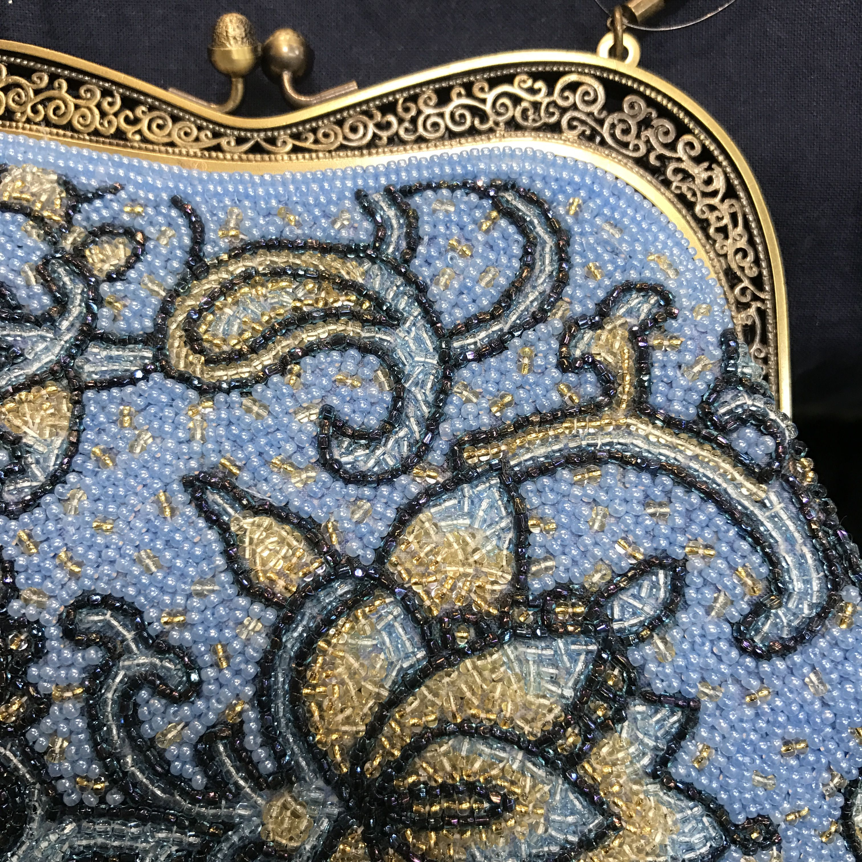 Bag made with bead embroidery
